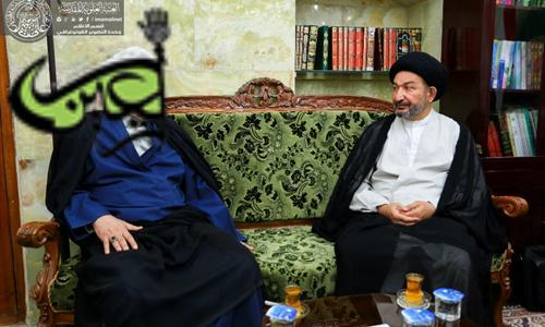 The Secretary General of Imam Ali(AS) Holy Shrine Receives the Deputy of Iraqi Shia Endowment's Head