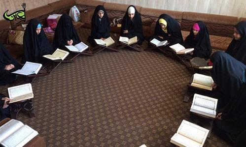 The female institute of the Holy Quran at the Al-Abbas's (p) Holy Shrine holds courses for learning Quran.