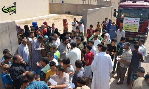 The Al-Abbas's (p) fighting squad continues its relief operations for the displaced of Iraqi district of Shargat