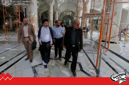 Secretary General of Imam Ali Holy Shrine inspected ongoing works in Fatima Courtyard Project.