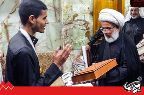 The custodian of Imam Hussein (AS) holy shrine honored a young Iraqi who memorized the entire Quran in 4 months.