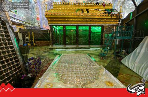 The Secretary General of Imam Ali (AS) Holy Shrine opens the Rehabilitation Project of the holy tomb's screen of Imam Ali (AS) Shrine.