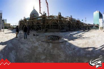 The continuation of the expansion project works of the Maqam of Imam Al-Mahdi (PBUH).