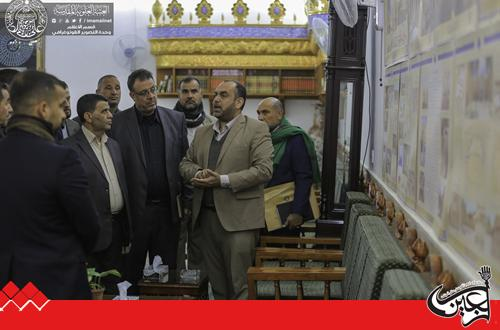 Technical, Engineering and Administrative staffs from Iraq's Ministry of Industry views the projects of Imam Ali(AS) Holy Shrine.