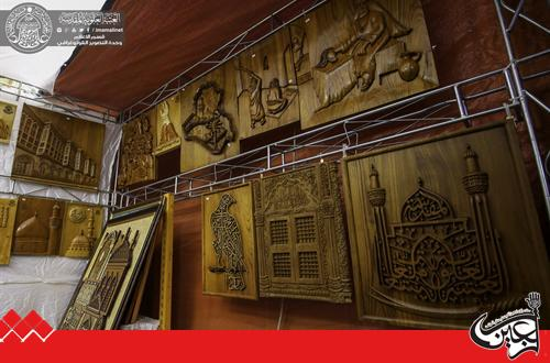 The Craftsmen of Engraving and Carpentry of Imam Ali(AS) Holy Shrine participated in Najaf International Book Fair