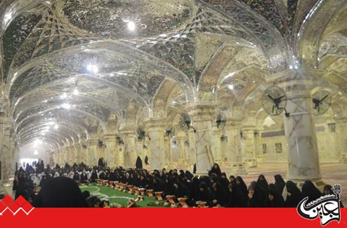 On the occasion of the birth of Imam al-Jawad (AS), Women Holy Quran Division  of Imam Ali(AS) Holy Shrine celebrated the schools of Najaf Province.