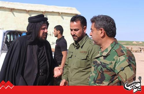 The representatives of the Shiite Muslim Religious Authorities in Baghdad visits Imam Ali Combat Brigade in Mosul.
